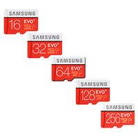 SAMSUNG 16GB 32GB 64GB 128GB 256GB Micro SD SDHC Micro SDXC Class10 EVO PLUS IT