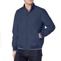 Perry Ellis Mens Blue Harrington Long Sleeve Lightweight Jacket Large