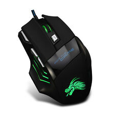 5500 DPI 7 Button LED Optical USB Wired Gaming Mouse Mice For Pro Gamer Cheap CN