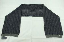 "BNWT Hugo Boss ""GR-Fermo"" Large Blue Gray 100% Wool Scarf 100% Authentic"