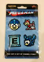 Megaman Enamel Pin Set of 4 Loot Gaming Crate Capcom Mega Man Beat Rush E Tank