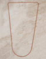 Belcher Chain Necklace 9ct Rose Gold