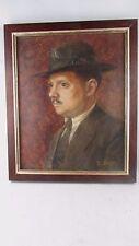 Tableau Huile / Toile Portrait d homme signé R PRUDON vers 1930 ecole lyonnaise