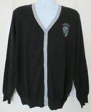 Jeans by Buffalo Men's V-Neck Cardigan Sweater Black Gray Size Large NWT