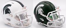 2017 MICHIGAN STATE SPARTANS Riddell SPEED Mini Football Helmet (WHITE) *COMBO*