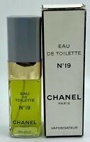CHANEL NO 19 EAU DE TOILETTE 100 ML 3.4 fl oz spray RARE VINTAGE
