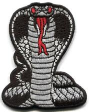 Black cobra snake biker kung fu tattoo embroidered applique iron-on patch S-1559