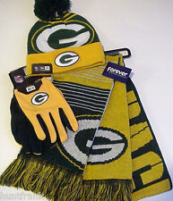 """NFL """"PACKERS"""" Cap / Scarf / Gloves   NEW ERA AUTHENTIC! LICENSED!   (WHIZ S/L)"""