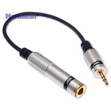 Verteiler Klinke 3.5mm Stecker auf 6.3mm Buchse Stereo Vergoldet Adapter Kabel