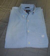 Vintage CHAPS Men's Blue Denim Long Sleeve Dunagree Style Button Up Size M