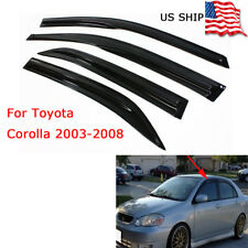 Smoked Side Window Vent Visor Rain Guards For Toyota Corolla 2003 - 2008 04 05 (Fits: Toyota Corolla)