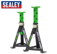 Sealey HD Axle Stands / Jack Stands - Green - Pair - 3 Tonne Capacity per Stand
