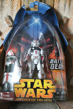 Clone Commander Red Star Wars Revenge Of The Sith Collection 2005