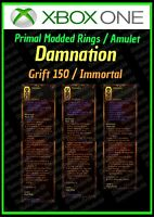 DIABLO 3 ROS - XBOX 1- FULLY PRIMAL MODDED RINGS AND AMULET - DAMNATION - LOOK!