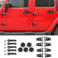 Carbon Fibre Exterior Door Decor Cover Trim Accessories For Jeep Wrangler Jk 07+