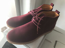 CASUAL DESERT LOW LACE-UP BOOT - BURGANDY RED - 44 OR SIZE 10 AU