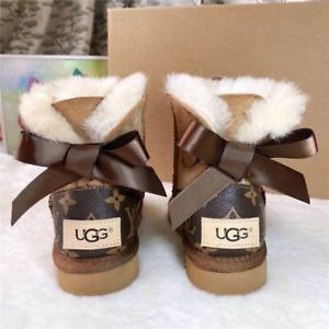 Custom Designer Womens Lady Ugg Boots Bow Sizes 5 6 7 8 9 10 11 12 SPRING SALE