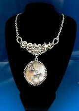 "Anchor Sea STAR Boat OCEAN Nautical Silver tone Necklace 18"" w/Earrings J10-15/2"