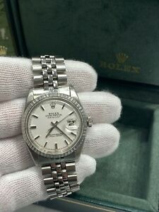 Rolex Datejust 1603 Pie Pan White Dial Stainless Steel with Box and Booklets