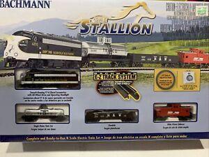 """N Scale Bachmann 24025 NS Norfolk Southern """"The Stallion"""" Train Set w/E-Z Track"""