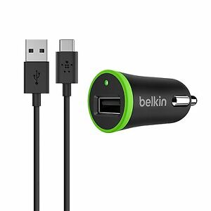 Belkin Type-C USB Car Charger & Sync Cable for Google Pixel X HuaweiLG HTC Nokia