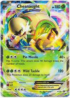 Chesnaught EX Ultra Rare Holo Pokemon Card XY Black Star Promo XY18