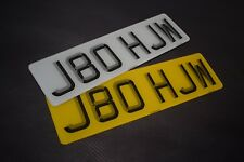 Pair 3D Short Small 6 digit Road Legal Number Plate MOT Compliant - FREE POSTAGE