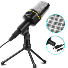 Microphone With Stand Tripod Audio Recording For Computer PC Phone Desktop Mic