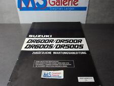 Suzuki DR 600 500 S R Werkstatthandbuch Reparaturanleitung Handbuch Zusatz SBA