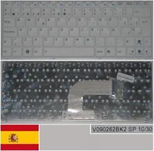 Tastiera Qwerty Spagnola ASUS N10 N10J Eee 1101HA V090262BK2 OKNA-1J2SP01 Bianco