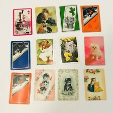 Vintage Lot of 12 Single Swap Playing Cards Kittens Cats Kitties Kitty A4