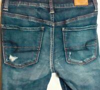 AMERICAN EAGLE  HI-RISE JEGGING Super Stretch Distressed Jeans Size 2  W-28 I-30