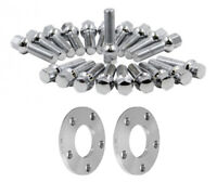17MM Hubcentric Wheel Spacers Silver Tapered Bolts BMW 5x120 72.5 12x1.5