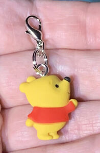 Winnie The Pooh Bear Charm Zipper Pull & Keychain Add On Clip!!