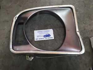 1972- 73 Radiator Grill Corner Headlight Trim Ring Chrome For Volvo 142 144 145