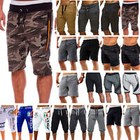 Mens Summer Elastic Waist Shorts Cargo Pants Casual Beach Sport Running Trousers