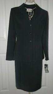 $160 New Kasper Black Dressy Skirt Suit size 4 small S