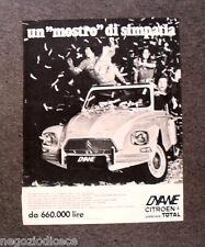 O967 - Advertising Pubblicità -1971- DYANE CITROEN , MOSTRO DI SIMPATIA
