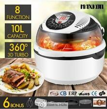 1300W 8 in1 Low Fat Multi Function Air Fryer Turbo Convection Oven Cooker-Black