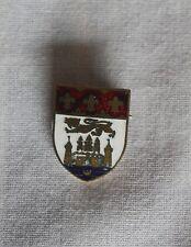 Coro Pegasus  Enamel Shield Brooch Pin Heraldic Rampant Lion Castle Fluer De Lis