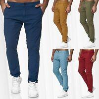 Homme pantalon Chino rayé Ajustement régulier Jeans Stretch Casual Slim Classic