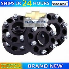 "4X 1.5"" Black 6x5.5 Hub Centric Wheel Spacers Adapters 1999-2016 Chevy Silverado"