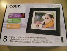 Coby DP862 8 inch digital photo frame with remote control NEVER USED MP3