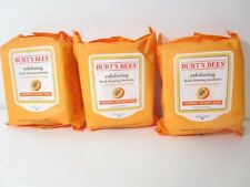 Burt's Bees Facial Cleansing Towelettes, Peach, Willow Bark, 25 ea (3 Pack)
