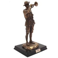 Silent Soldiers The Last Post Bronze Statue Figurine Ornament ANZAC Limited Ed