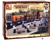 Sluban Toy Building Brick Set * LOGGING TRAIN * Railway Edition - 255 Pcs NEW
