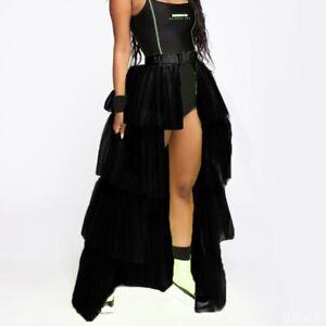 Tutu Skirt Half Bustle Layer Tulle Burlesque Petticoat Clubwear Rave Party Dress