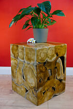 Side Table Wood Teak Root Table Solid Wood Flower Stand Stool Night Table