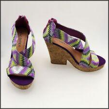 Wide (C, D, W) Multicoloured Heels for Women