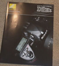 Nikon D2Hs Factory Sales Brochure 4 Color Pages Original